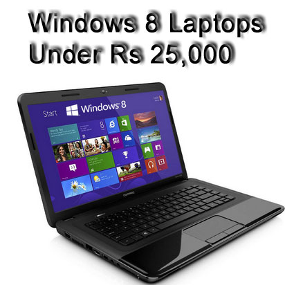 Asequible de Windows 8 computadoras portátiles