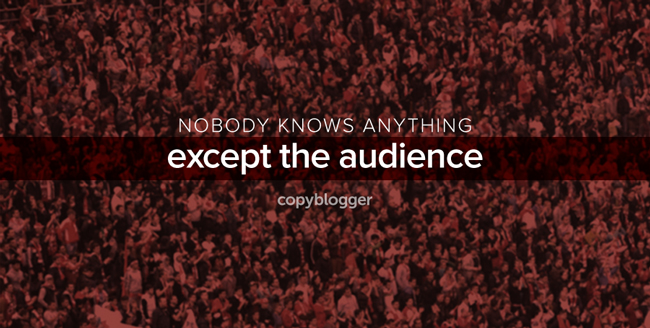 nobody knows anything except the audience