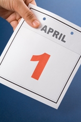 image of april fool's day calendar page