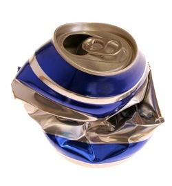 image of crushed can
