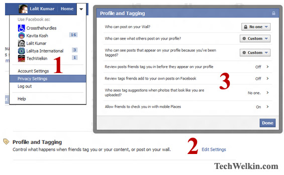 Manage Facebook Tags