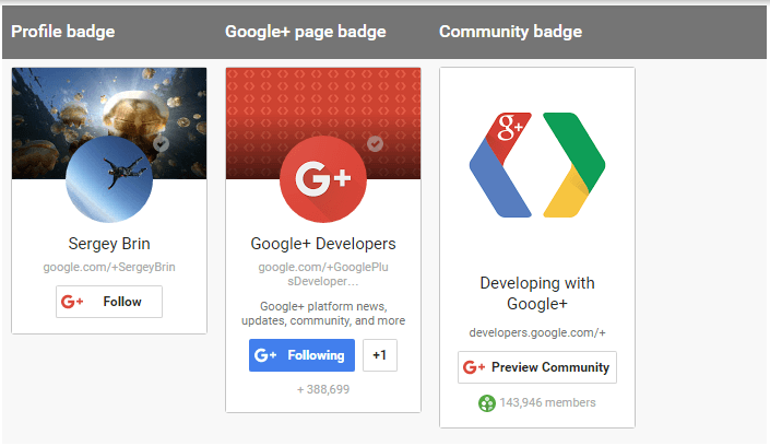 Insignia de Google Plus